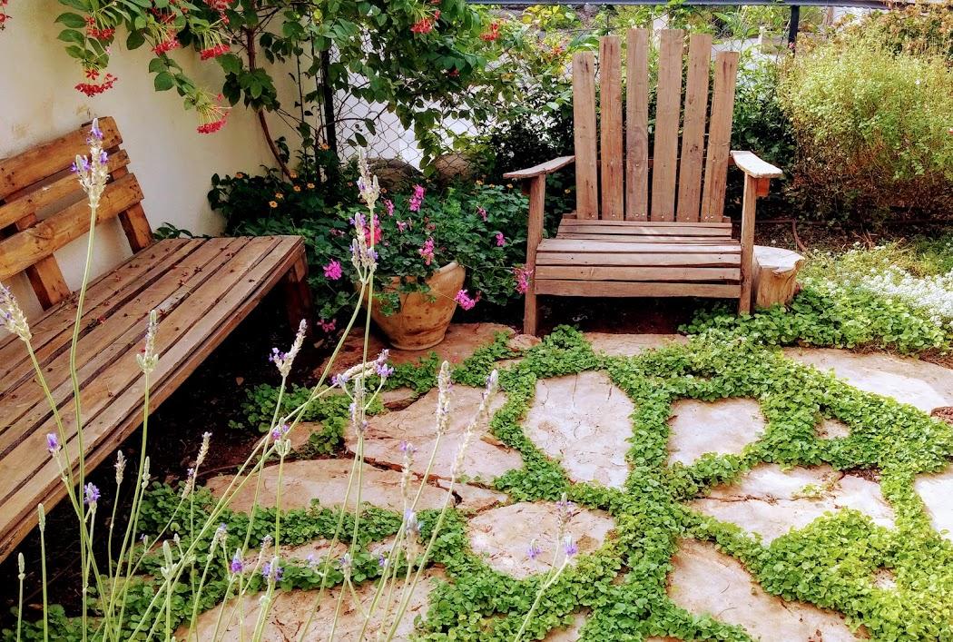 עיצוב גינה בדירת גן , עיצוב גינות
